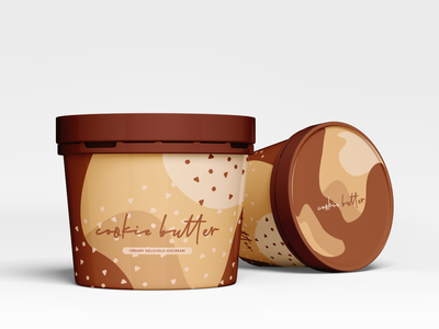 Cookie Butter Ice Cream butter cookie graphicdesign branding design packaging design dailywarmup packaging ice cream