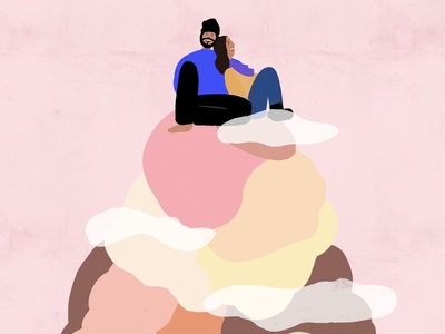 On ice visual design graphic icecream