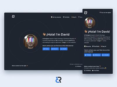 Personal website update! responsive web design website