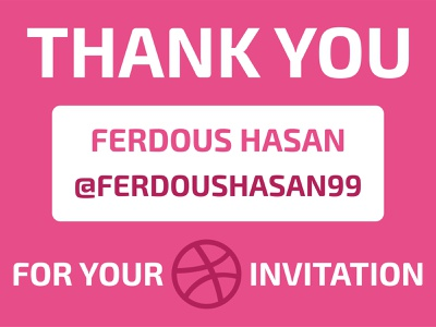 Thanks for Invite Me message dribbble invitation dribbble invite invitation invite dribbble thank you