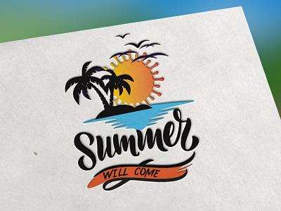 SUMMER COME branding vector logo creative  design creative creative logo creativity creative design design