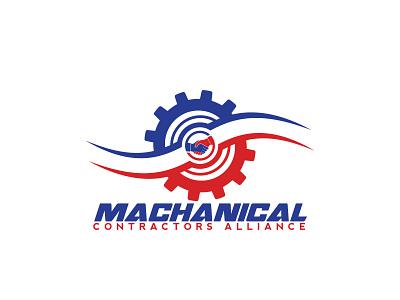 Mechanical Contractors Allianc minimal flat creative  design branding logo creative creative logo creativity creative design design
