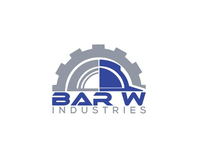 Bar W Industries minimal flat logo branding creative  design creative creative logo creativity creative design design