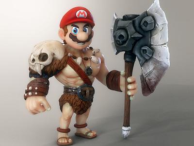Mario's showdown weird cinema4d maya motiongraphics character mario mariobros nintendo