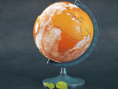 Orange globe 3d animation 3danimation 3d motiondesign orange fruit houdini maya design motiongraphics cinema4d weird