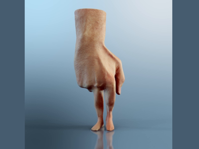 Fingers walking 3d animation hand realistic 3danimation 3d motiondesign houdini cinema4d character maya motiongraphics disturb weird