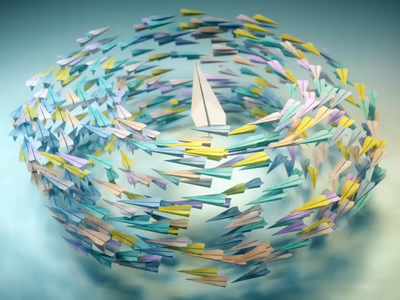 Paper airplanes design motiondesign houdini 3d animation 3danimation 3d weird motiongraphics maya cinema4d