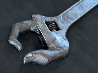 Hand wrench character disney weird houdini motiondesign 3d animation 3danimation 3d motiongraphics maya cinema4d