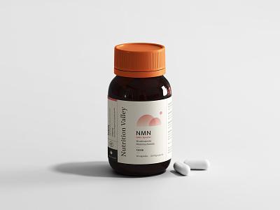 Nutrition Valley pill bottle pill label logo vitamin vitamins pills branding packaging valley nutrition