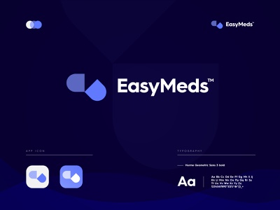 EasyMeds Logo Branding app icon logo design graphic design branding brand identity design brand health app logo medicine logo app logo app icon logo app icon logos logo
