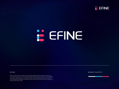 EFINE logo branding minimal app logo design graphic design branding brand identity design e letter logodesign app logo e logo icon e icon e letter logo