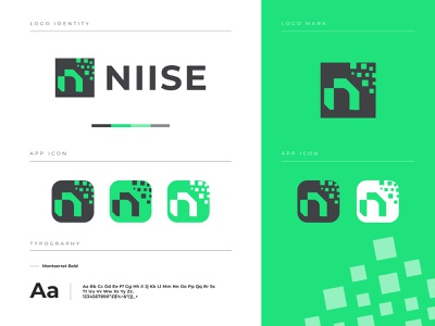 NIISE - Logo Branding logotype app icon brand identity logo icon brand identity design branding n mark logo design letter logo app icon logo app logo logodesign modern logo