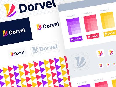 Dorvel - Logo Branding app icon logo brand identity logotype minimal branding brand identity design d mark letter d logo d logo app icon app logo logo design logo modern logo