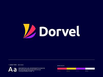 Dorvel - Logo Branding app logo app icon minimal brand identity icon logo branding brand identity design modern logo logo design letter d logo d logo d