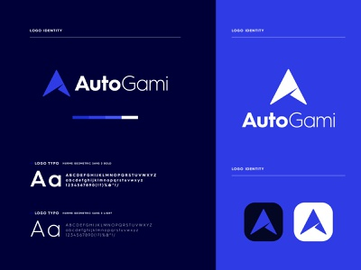 Autogami - Logo Branding minimal graphic design app icon logo brand identity logo design brand identity design branding modern logo app logo a mark a logo