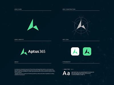 Aptus365 - logo Branding app logo icon brand identity graphic design branding logo design brand identity design a logo a mark minimalist logo minimalist modern logo logo