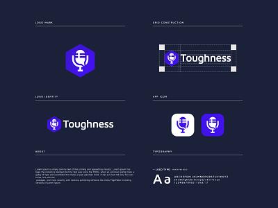 toughness - logo Branding logodesign minimal app icon logo app icon app logo graphic design logo design branding brand identity design podcast logo modern logo logo