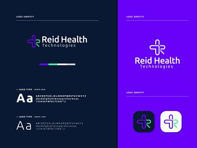 Reid Health Technologies - logo Branding minimal modern logo brand identity branding graphic design brand identity design app icon logo app icon app logo icon app logo medical logo health logo logo design logo