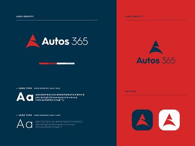 Autos365 - logo Branding icon modern logo minimal brand identity graphic design logo branding logo design brand identity design app logo