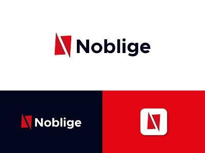 Noblige - logo Branding app icon logo minimal brand identity branding brand identity design logo design letter mark monogram letter logo logodesign n modern logo app icon app logo logo
