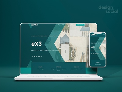 Genex eX3 Virtual Tour Landing Page landing page design business website landing page webdevelopment website website design webdesign modern ux ui design