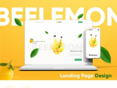 Beelemon Landing Page Design hero section illustration landing page webdevelopment branding modern ux ui website design webdesign