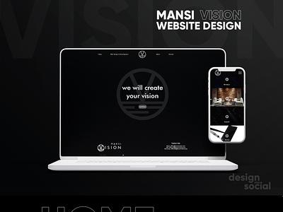 Mansi Vision - Modern Landing Page landing page design film website minimal website website design webdevelopment webdesign modern branding design