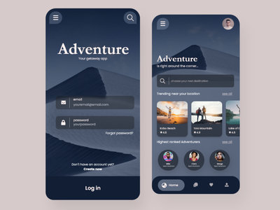 Travel App Concept - Mobile UI ui  ux travel booking app mobile ui design mobile app design agency mobile ui travel app ui mobile app design travelling travel app travel agency trip trips