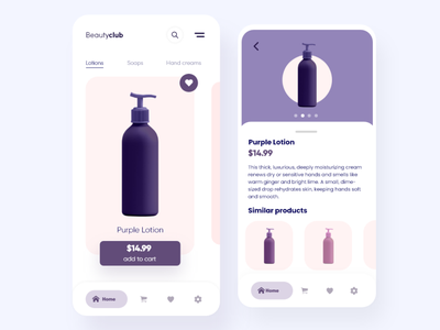 BeautyClub - Beauty Store App Concept cart interface ecommerce shop shopping cart card uiuxdesign uidesigns web app modern minimal clean beauty product shopping app uiux uidesign ui design beauty cosmetics