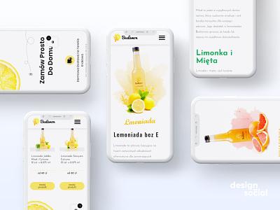 Lemonade Website Design and Development webdevelopment mobile ui ecommerce website landing page ux ui modern website design branding ecommerce webdesign website mobile design