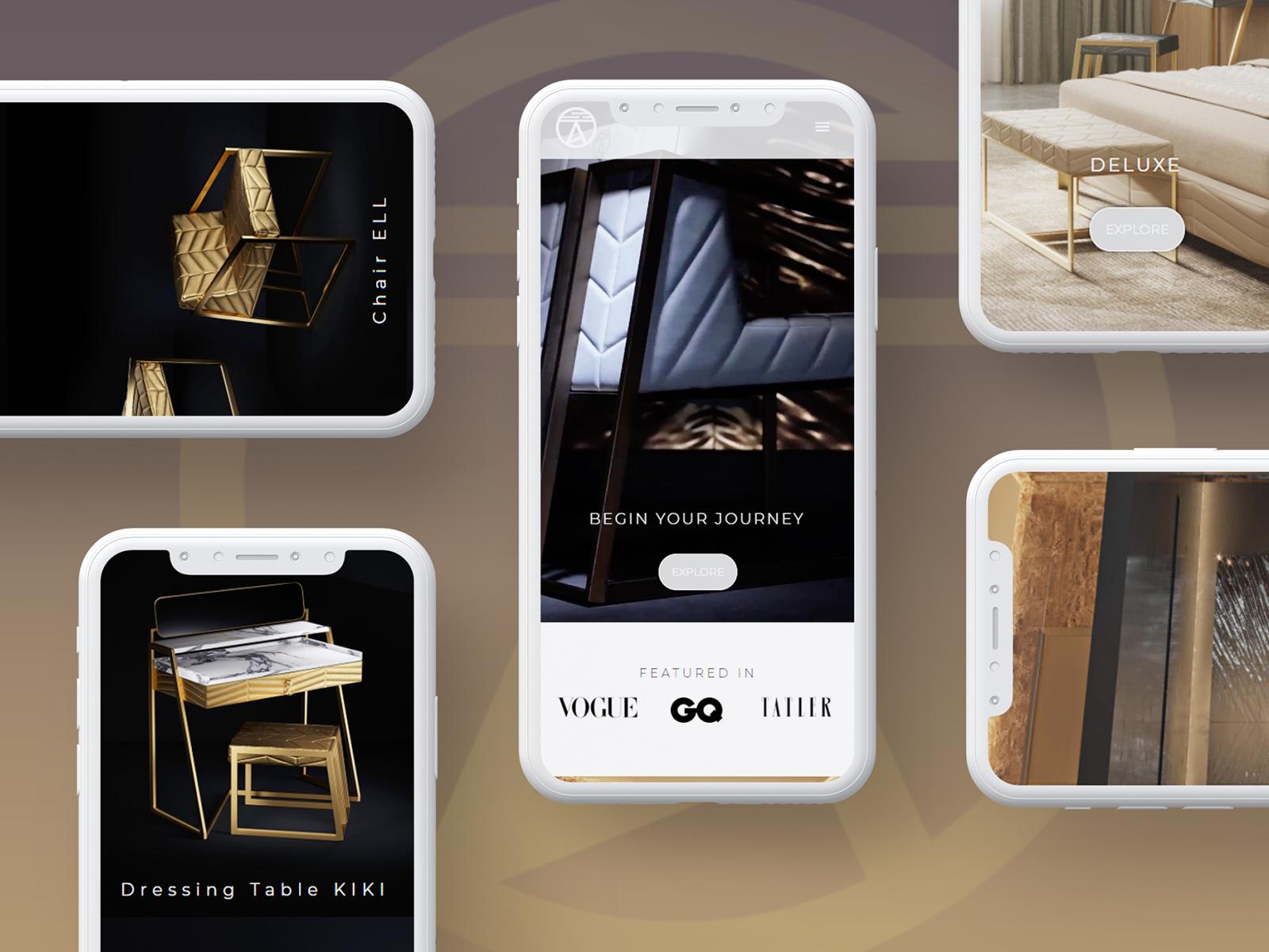 Mansi London website design mobile ui modern landing page webdevelopment website design ux webdesign design ui website