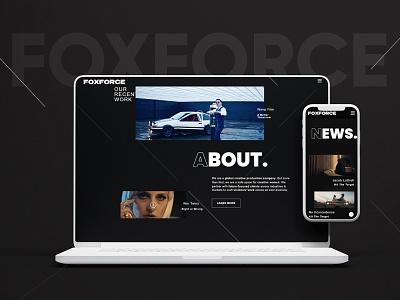 Foxforce modern landing page mobile ui webdevelopment website ux website design design ui webdesign