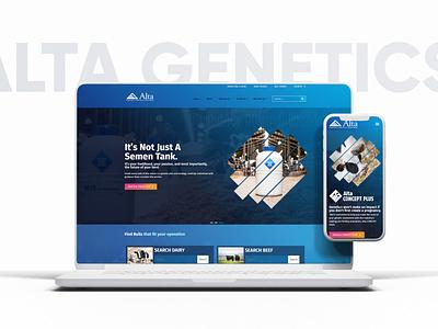 ALTA GENETICS mobile ui design webdevelopment webdesign website ux website design ui modern