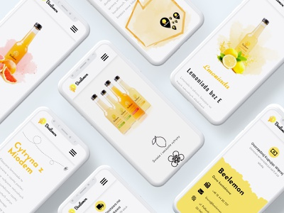 Beelemon mobile ui branding webdevelopment modern ui ux website webdesign website design design