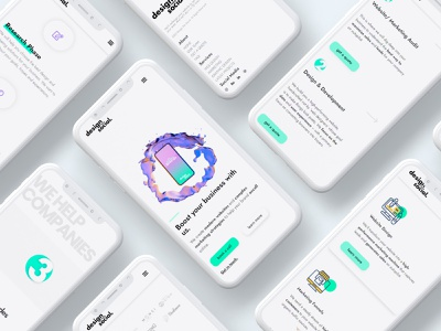 DesignMeSocial mobile ui portfolio site website branding design webdevelopment webdesign website design ui modern