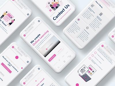 Website for Kick Learning minimal design website portfolio site webdevelopment webdesign ux website design ui modern
