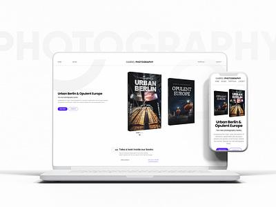 GABRIEL PHOTOGRAPHY minimal design branding landing page webdevelopment webdesign ux website design ui modern