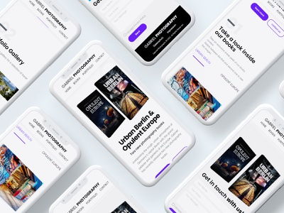 GABRIEL PHOTO landing page mobile ui website webdevelopment design ux webdesign website design ui modern