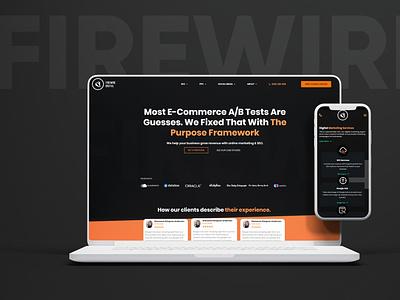 FIREWIRE design webdesign ux minimal webdevelopment website website design ui modern