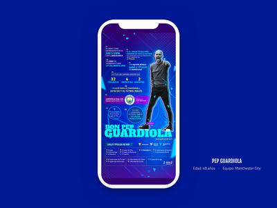 Infographic Don Pep Guardiola