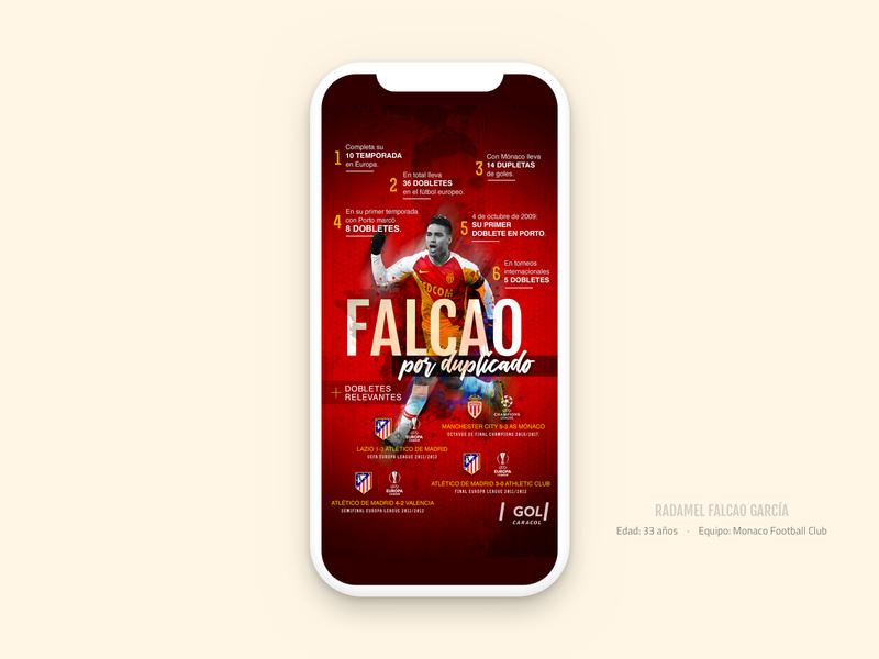 Infographic Falcao García europe colombia monaco champions league champions madrid futbol soccer red falcao