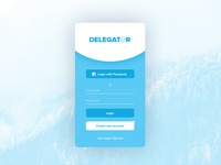Delegator - App Login Screen
