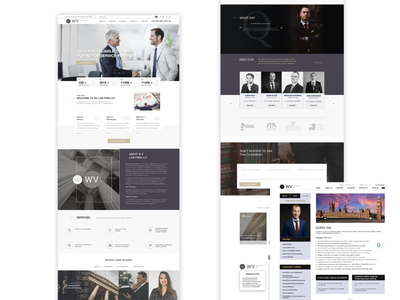 Welcome  to WV law firm LLP law firm redesign redisign website layer design of a law firm legal site landing page logo layer layer site layer