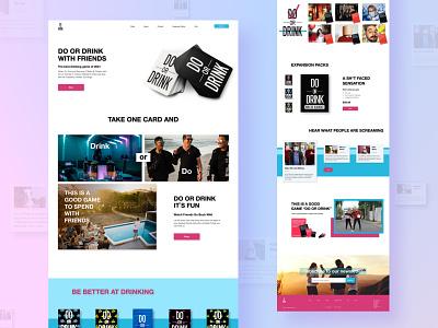 DO OR DRINK website design branding digital funny uiux e-commerce american drink landing page desktop ui