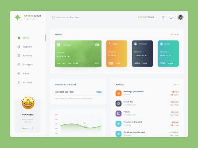 Finance App - App Design Concept ux clean ui banking card bank card wallet money bank concept app finance app web finance