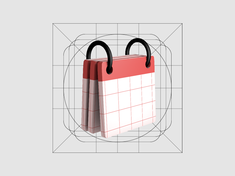3D Icon on the Grid design ux ui creative flat icon 3d