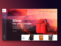 Web project for backpacks