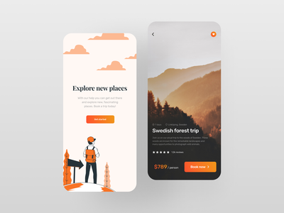 Travel app UI mobile trends mobileui uiuxdesign uitrends uiinspiration uidesign trending mobile ui mobiletrends mobileinspiration mobile design mobile app mobile minimal inspiration flat design app design interface 2020