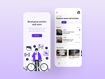 News & Articles UI mobile trends mobileui uiuxdesign uitrends uiinspiration uidesign trending mobile ui mobiletrends mobileinspiration mobile design mobile app mobile minimal inspiration flat design app design interface 2020