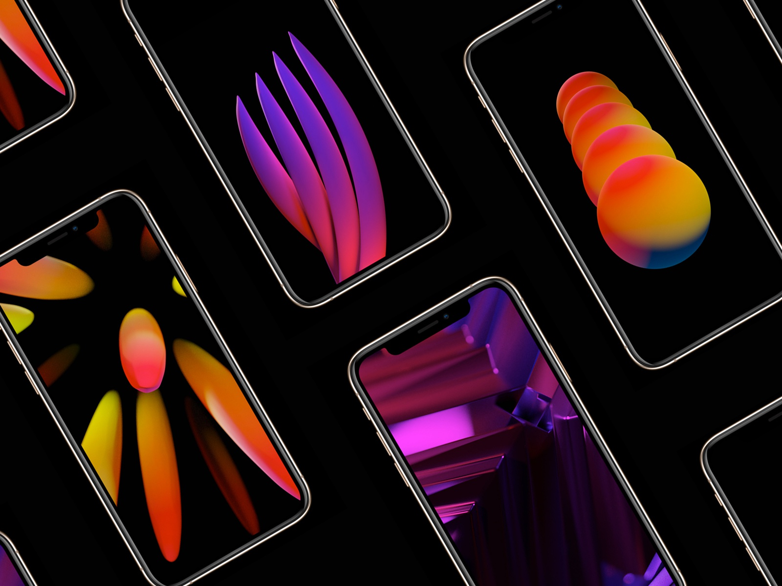 12 Eye Catching Mobile Wallpaper Freebies You Can Get On Dribbble Dribbble Design Blog